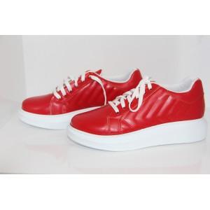 modaklon Kadın KırmızıBeyaz Sneaker Ayakkabı